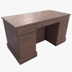3D model executives desk