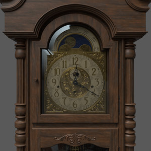 pbr grandfather clock 3D model