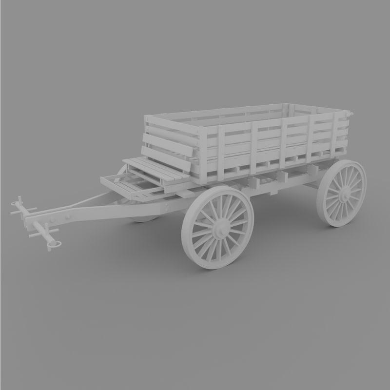 3D wagon cart