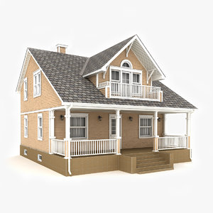 3D model two-story cottage 47