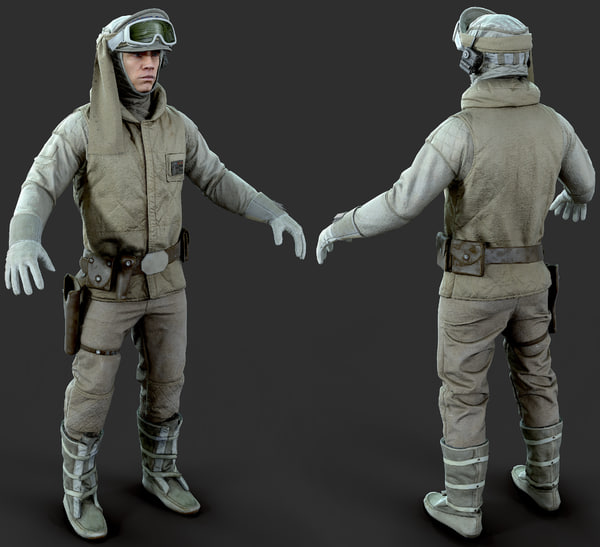luke rigged model