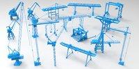 3D 17 crane -