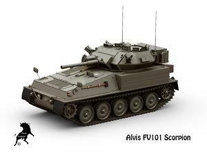 3D alvis fv101 scorpion model