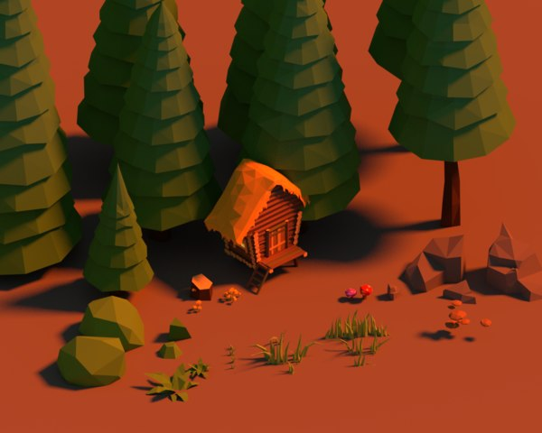 forest pack 3D model