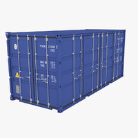 20ft industrial container door 3D model