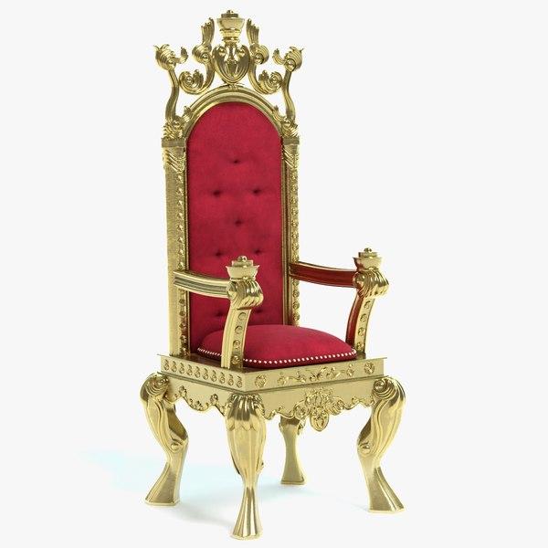 3D throne chair s model