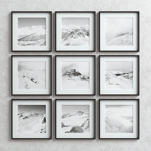 3D picture frames set -6