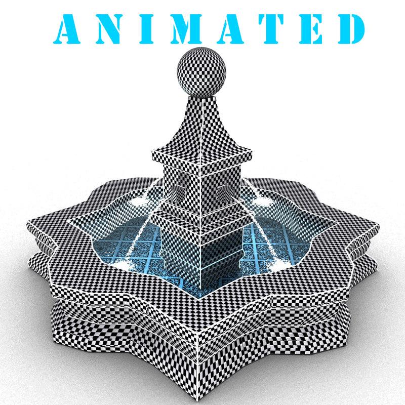 mosaic fountain 3D model