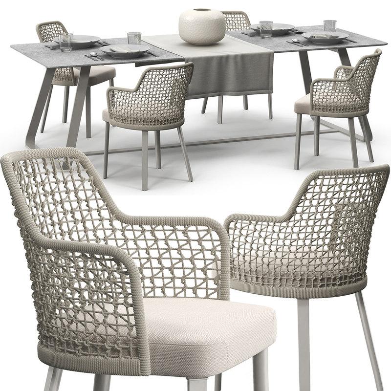 3D varaschin emma chair set
