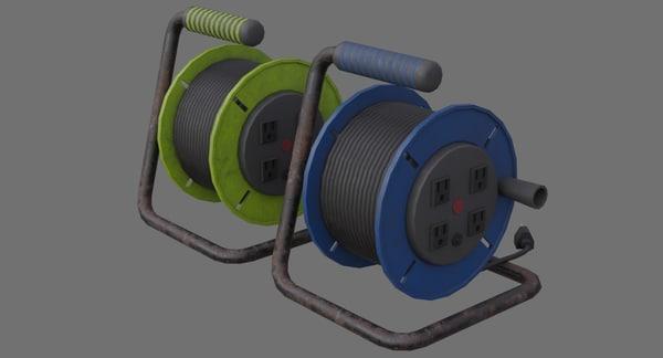 extension cord reel 1b 3D model