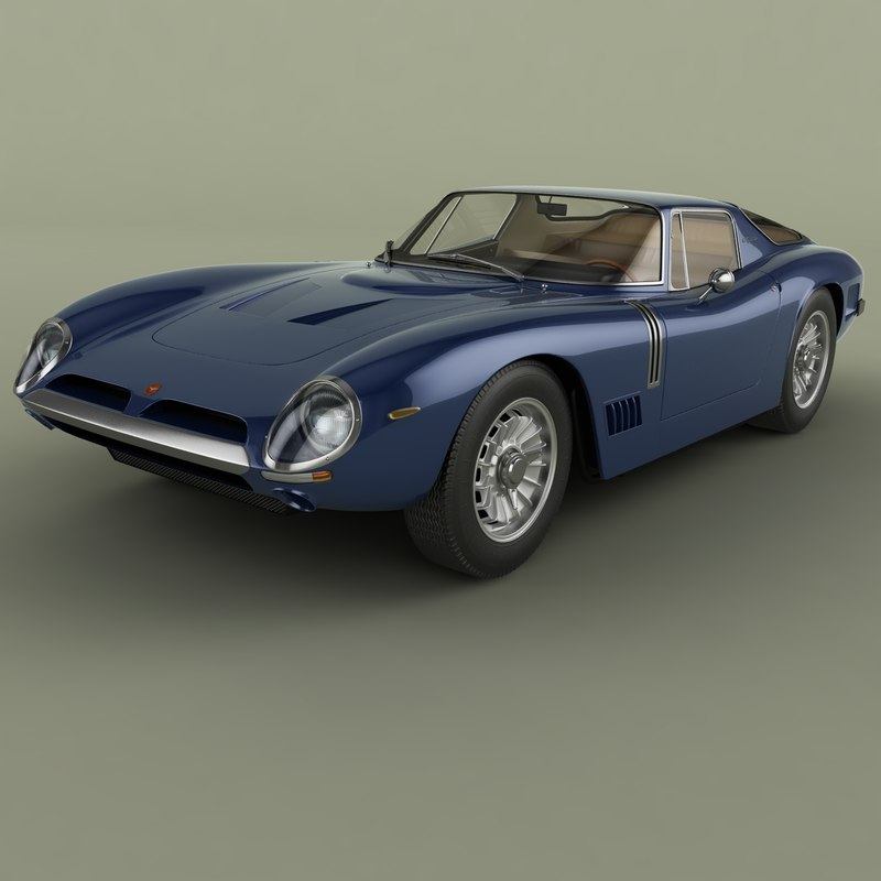1964 bizzarrini gt strada 3D model