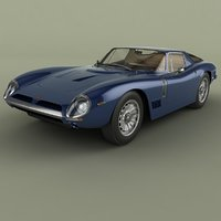 1964 bizzarrini gt strada 3D model