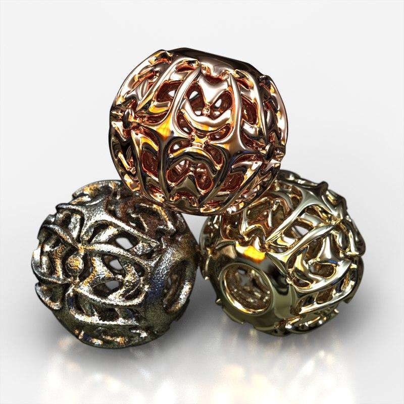 3D jewelry charm pa v1f model