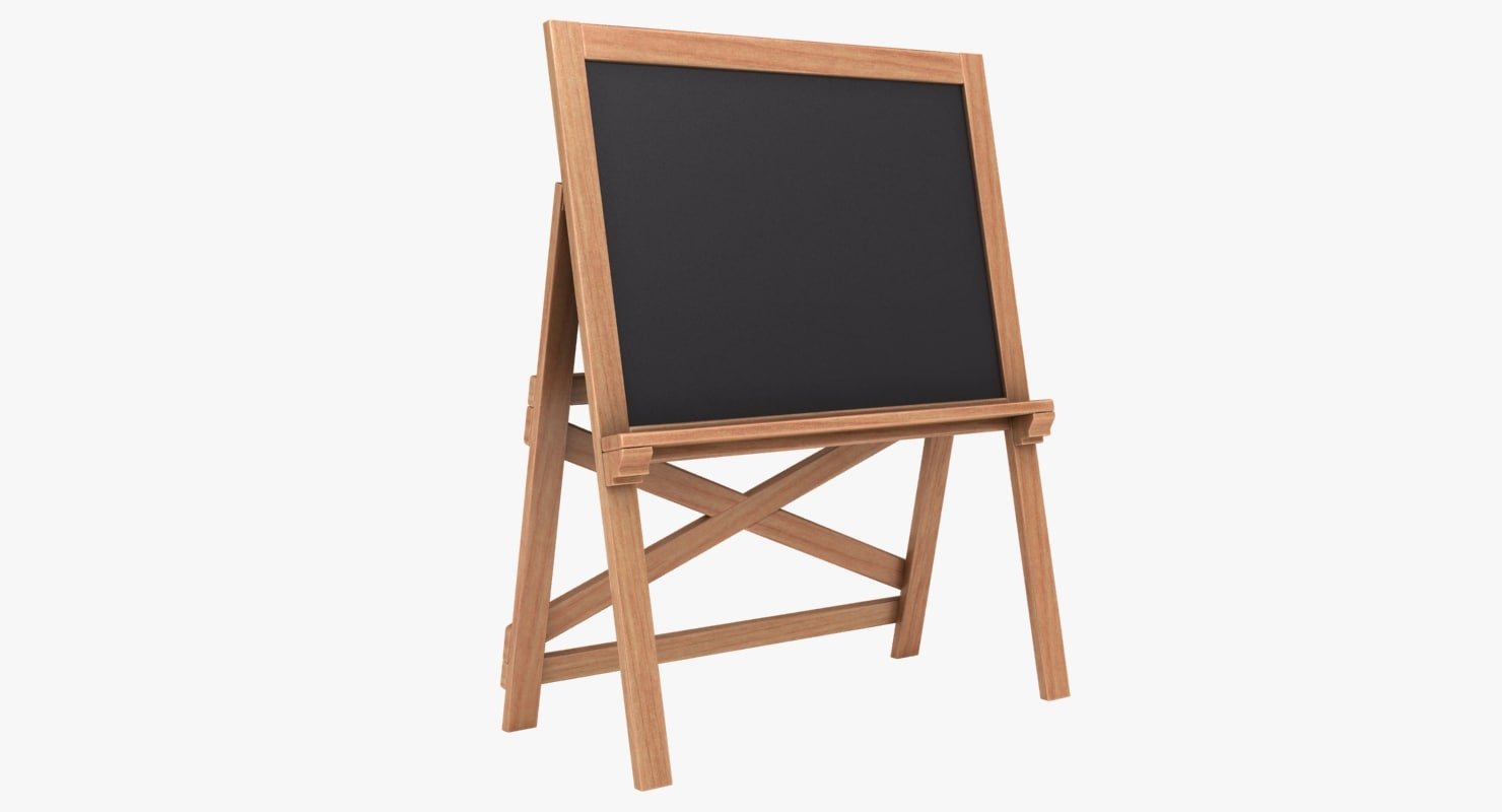 3D chalkboard 03 color 3 model