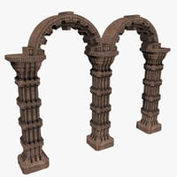 3D arch column capital model