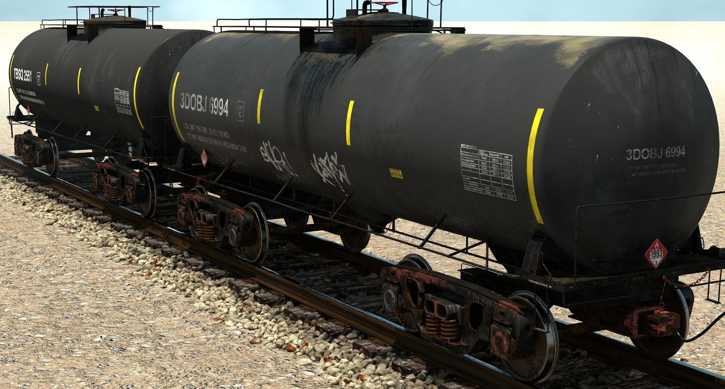 3D tank cars dot-111 model