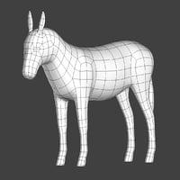 Donkey Base Mesh