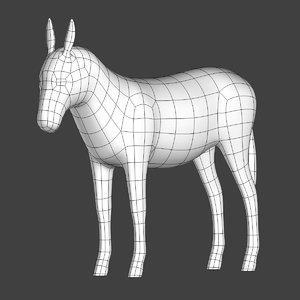 3D donkey mesh model