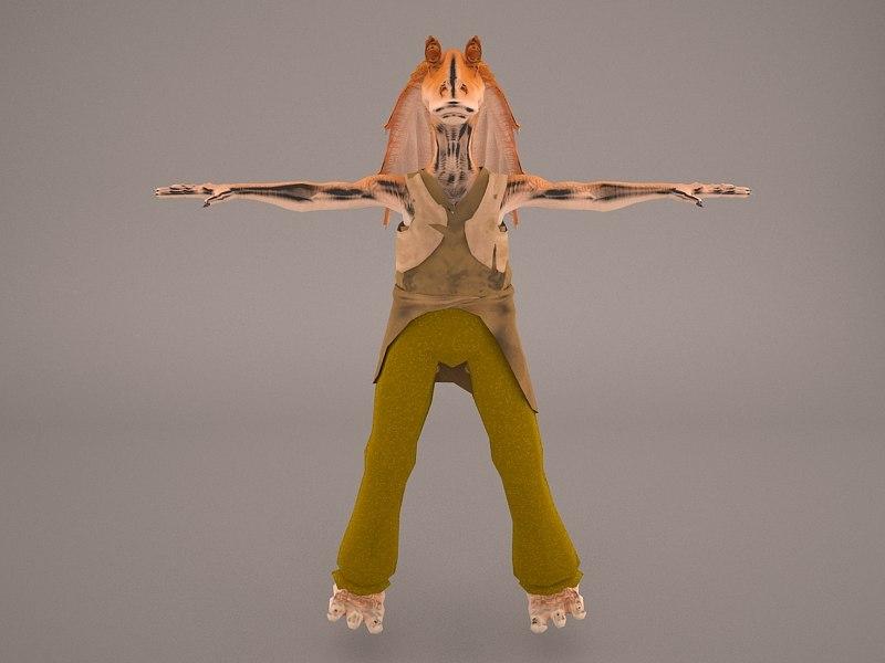 jar binks star wars model