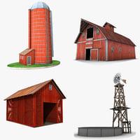 3D farm buildings model