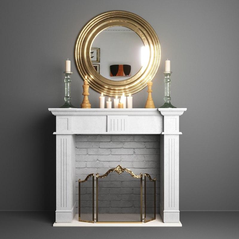 decorative fireplace 3D model