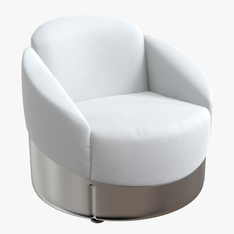 3D longhi chair astrea white