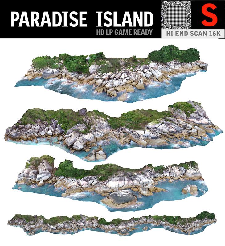 3D paradise island pack 3