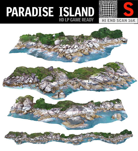 3D paradise island pack 3