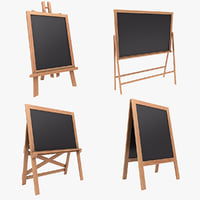 chalkboard color 3 set 3D model