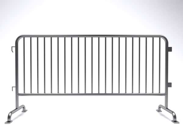 3D crowd control barrier