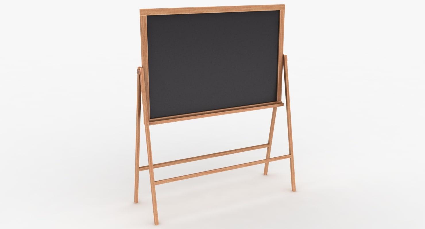 chalkboard color 3 set 3D model