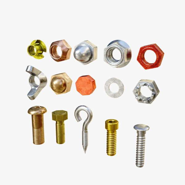 commonly screws industry 3D model