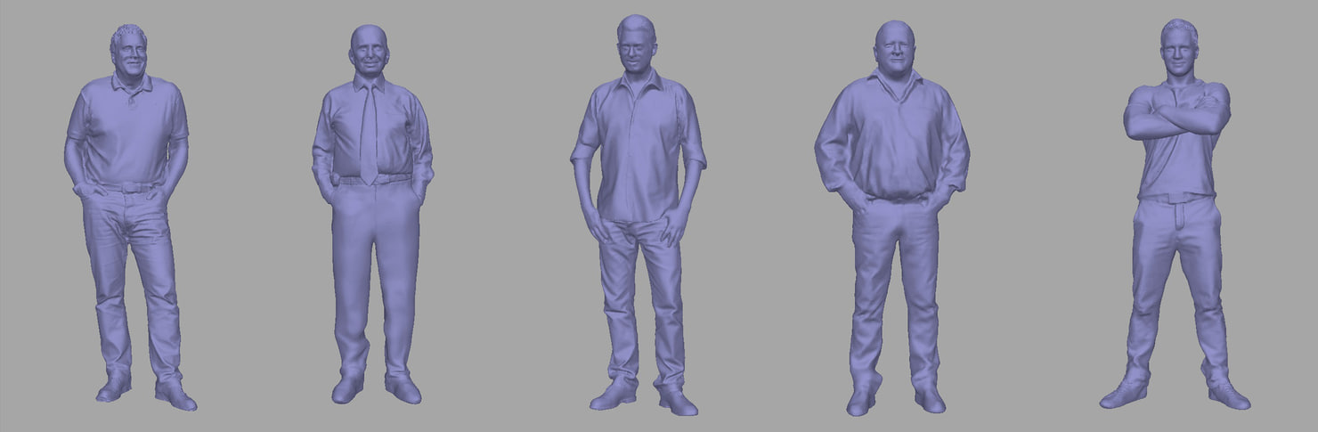 3D model men backgrounds games