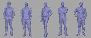 3D men backgrounds games