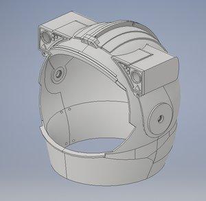 astronaut helmet 3D model
