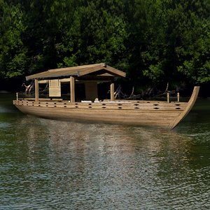 3D japanese boat