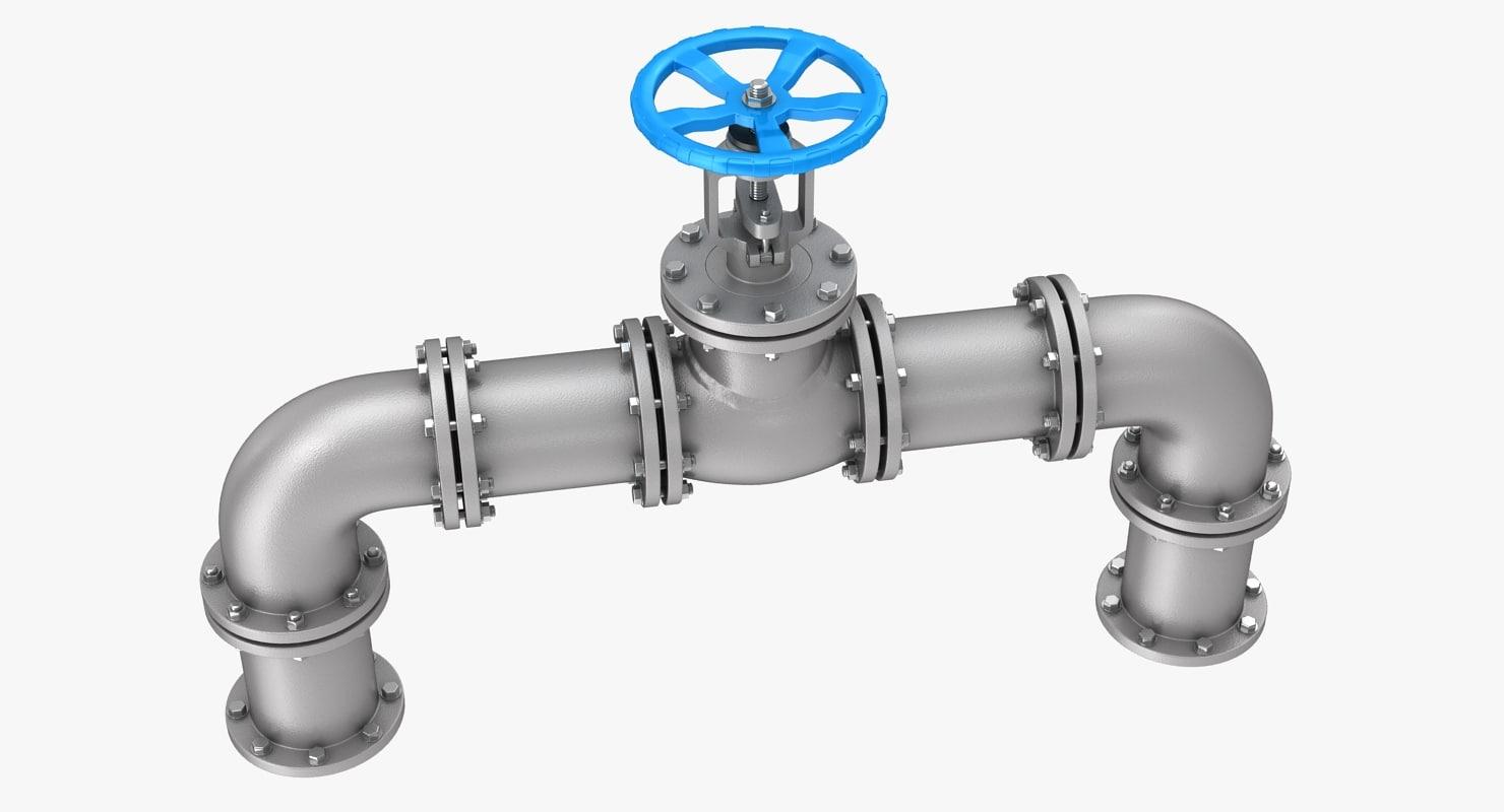 gate valve pipes model