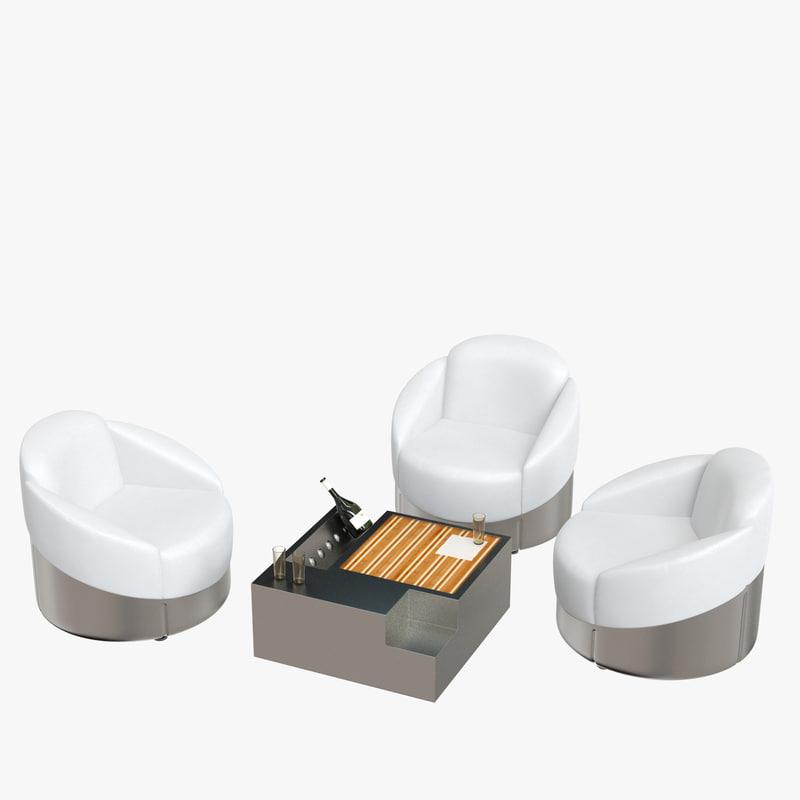3D astrea chair table set