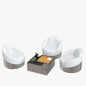 3D astrea chair table set