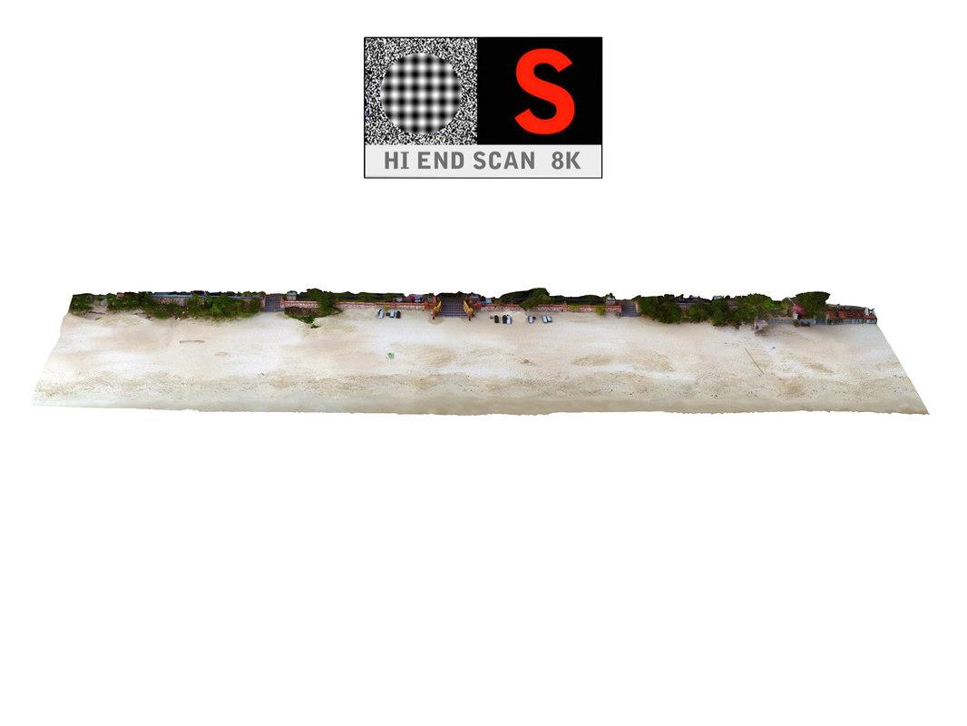 3D real beach 8k