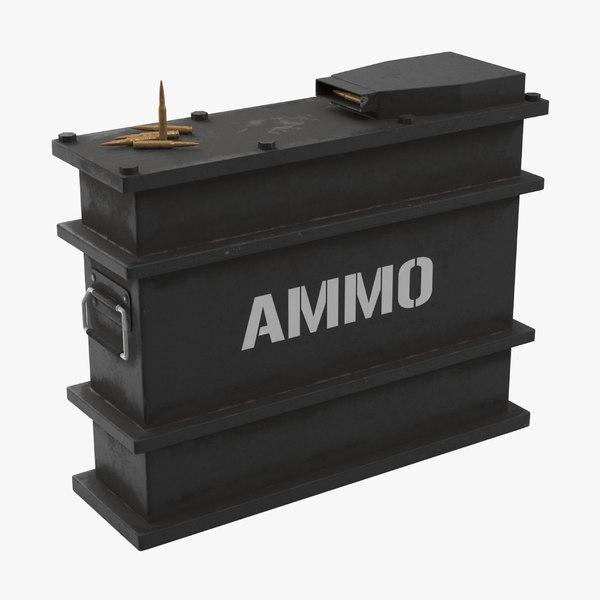 ammo crate dirt 3D model