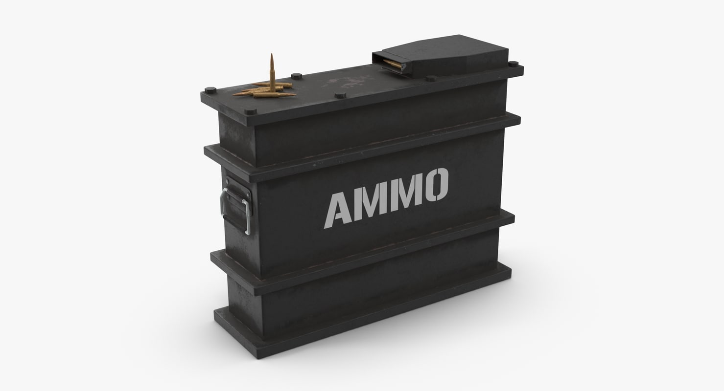 ammo crate dirt 3D model