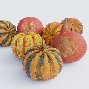 photoscanned pumpkins 3D model