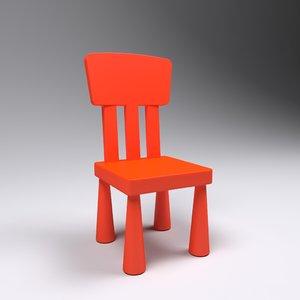 kids chair 3D model