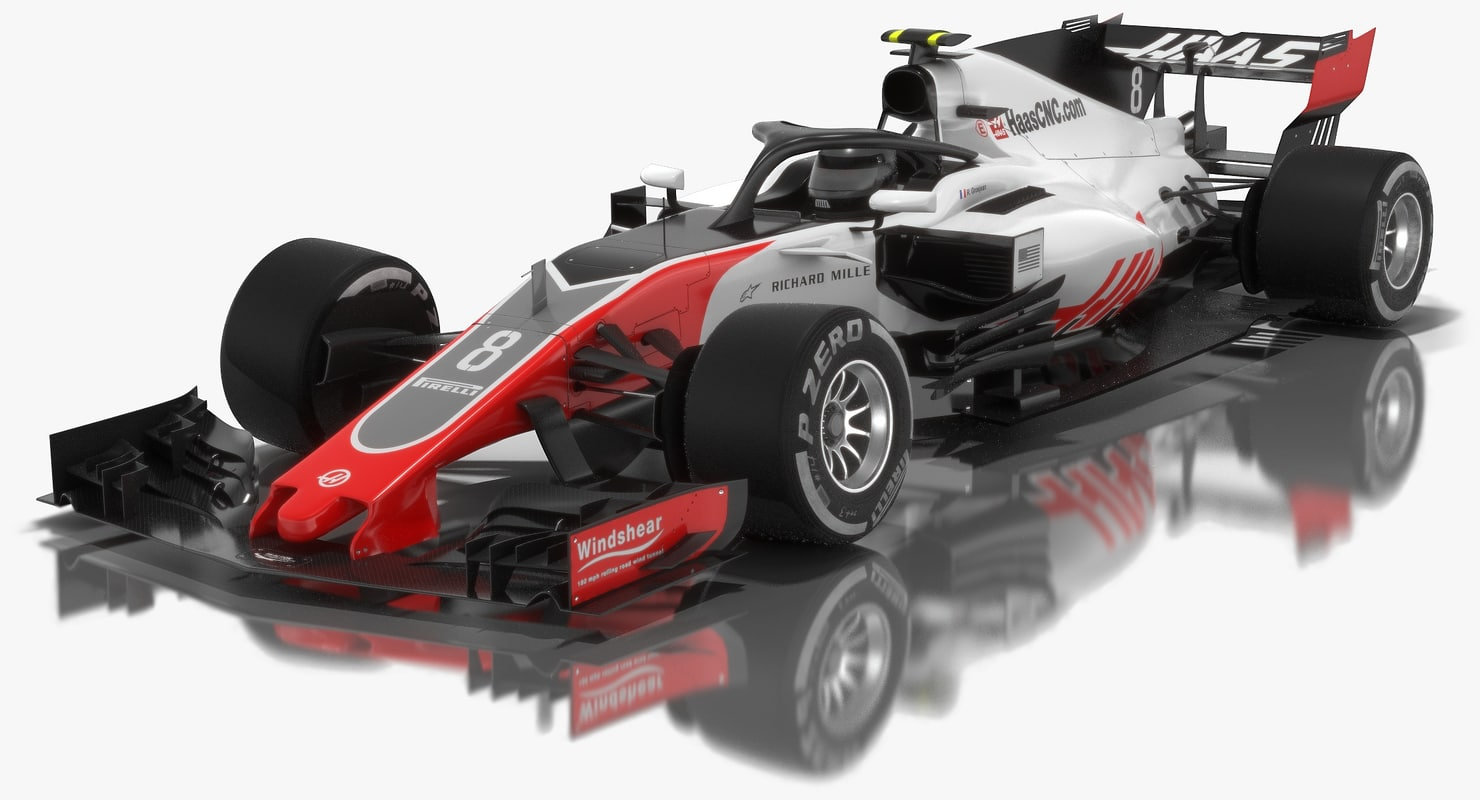 3D haas vf-18 formula 1 model