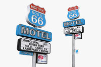 historic route 66 motel 3D