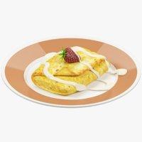 3D pancake plate model