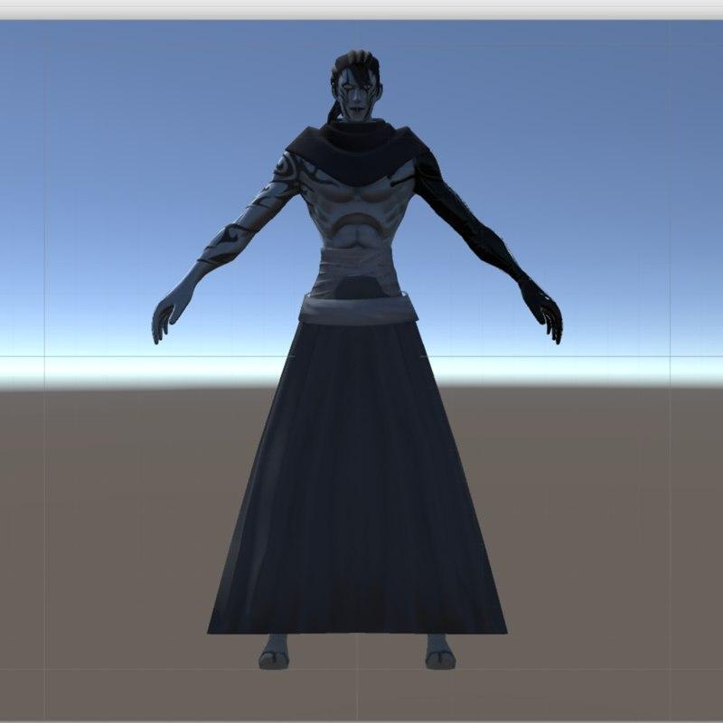 char samurai 3D model