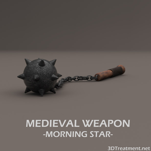 medieval weapon morning star 3D model