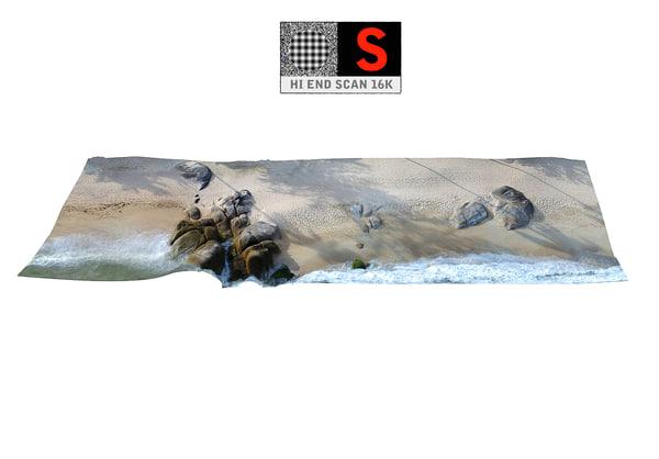 3D real beach 16k